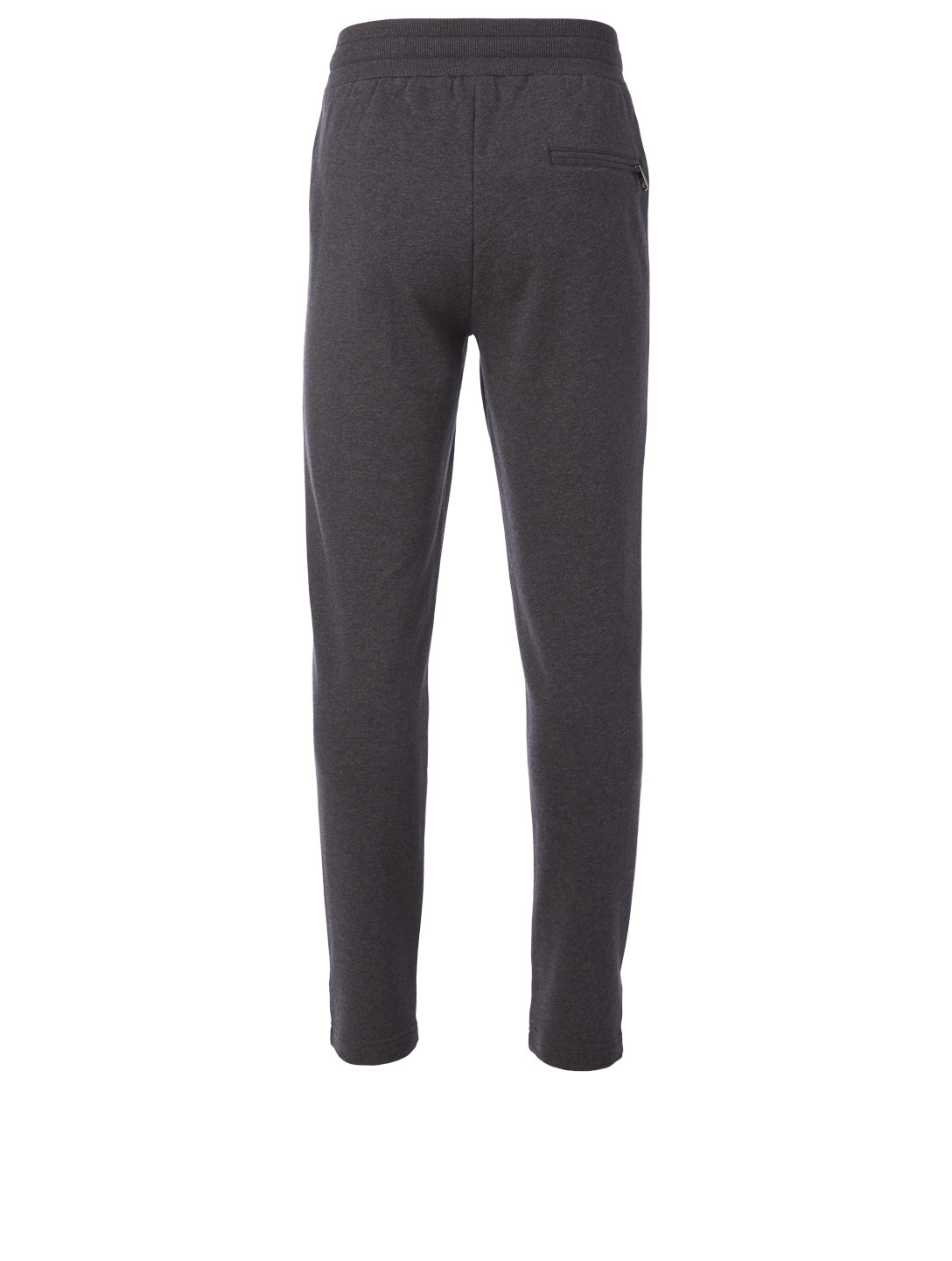 DOLCE & GABBANA Cotton Jogger Pants With Patch Men's Grey