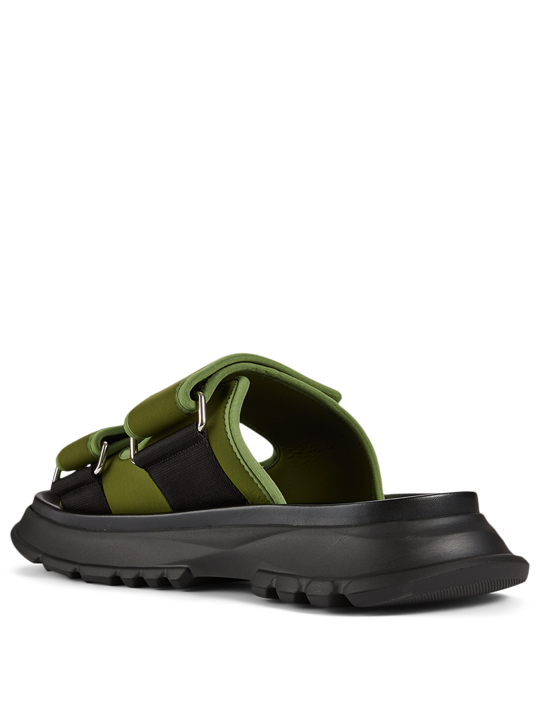 GIVENCHY Spectre Neoprene Slide Sandals Men's Green