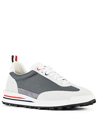 THOM BROWNE Nylon Tech Sneakers Men's Grey