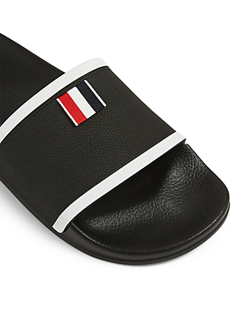 THOM BROWNE Rubber Slide Sandals Men's Black