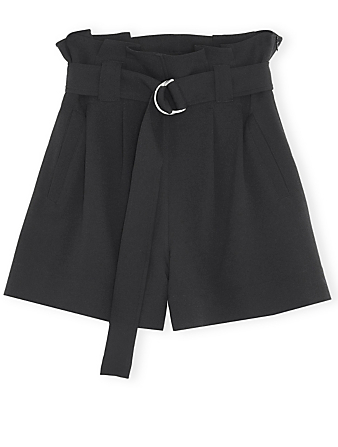 GANNI High-Waisted Shorts With Belt Women's Black