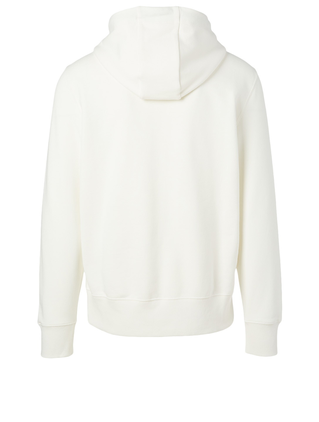 MONCLER Cotton Hoodie With Embroidered Logo Men's White