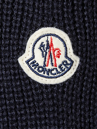 MONCLER Padded Down Cardigan With Hood Men's Blue