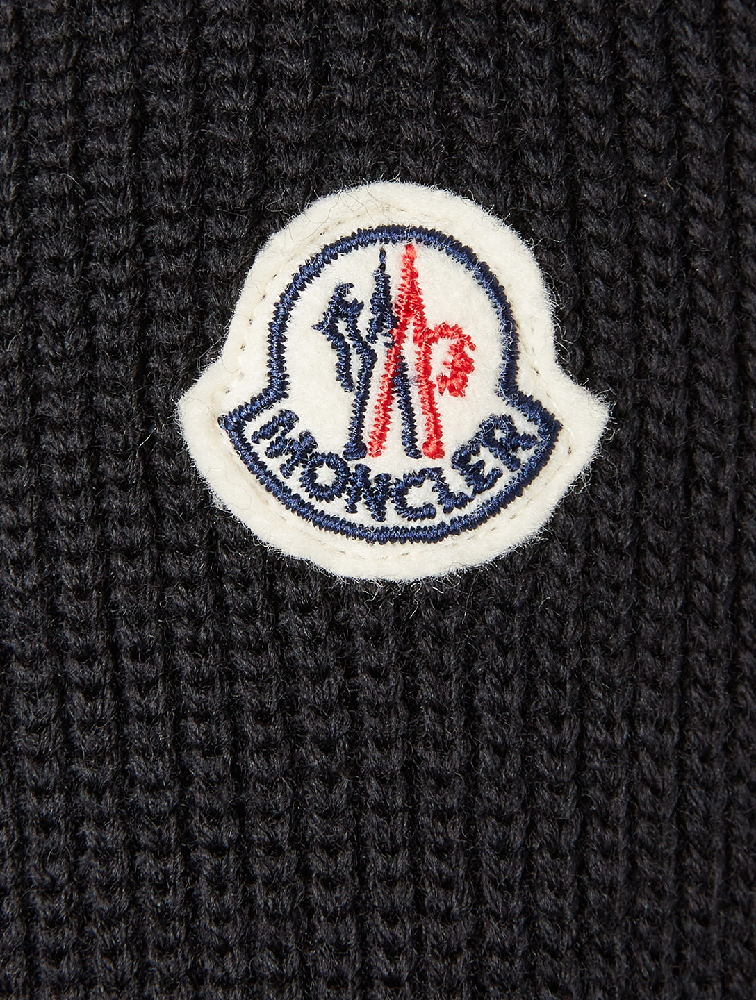 MONCLER Wool Padded Down Cardigan Men's Black