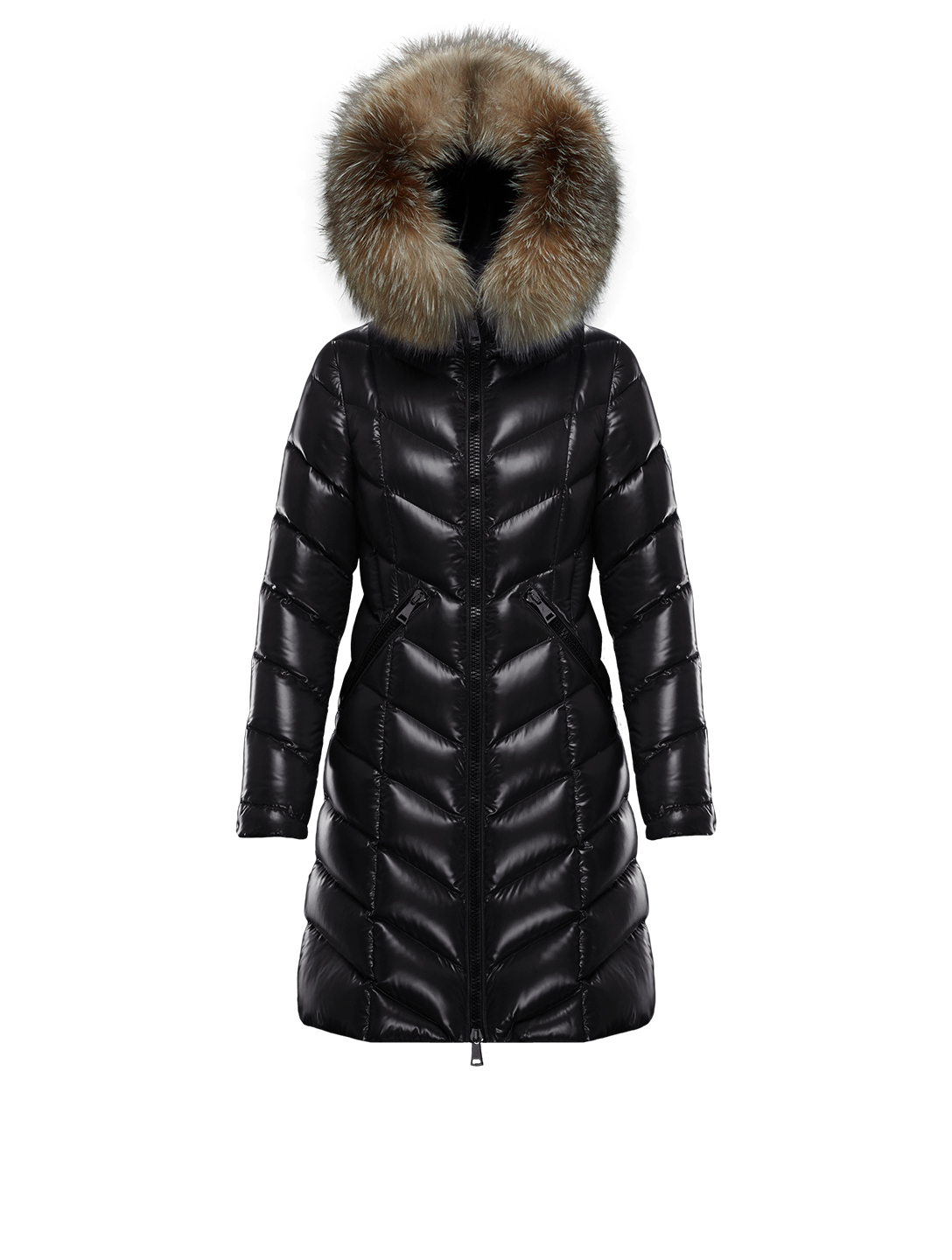 MONCLER Fulmarus Long Down Coat Women's Black