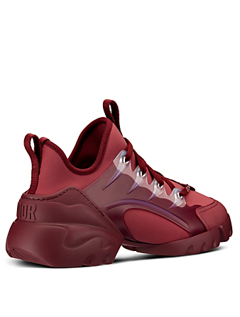 DIOR D-Connect Technical Fabric Sneakers Women's Red