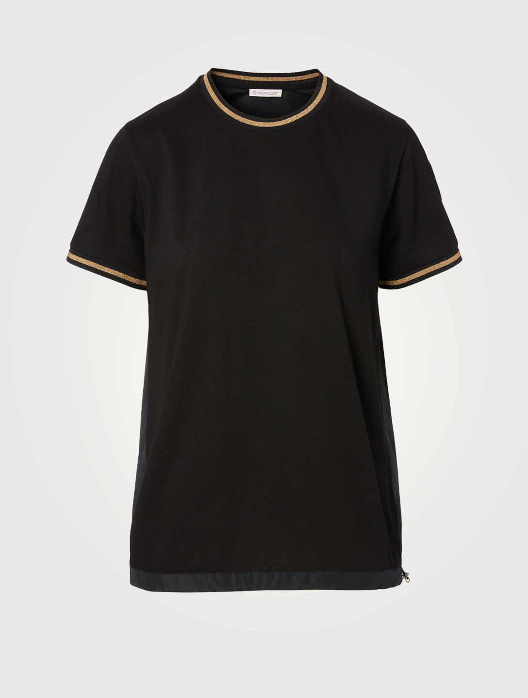 MONCLER Cotton Drawcord T-Shirt Women's Black