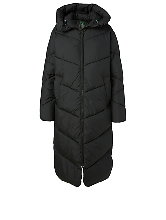 SAVE THE DUCK Recycled Hooded Long Puffer Coat H Project Black