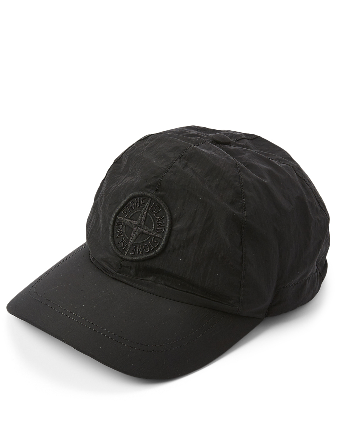 STONE ISLAND Ball Cap With Logo Men's Black