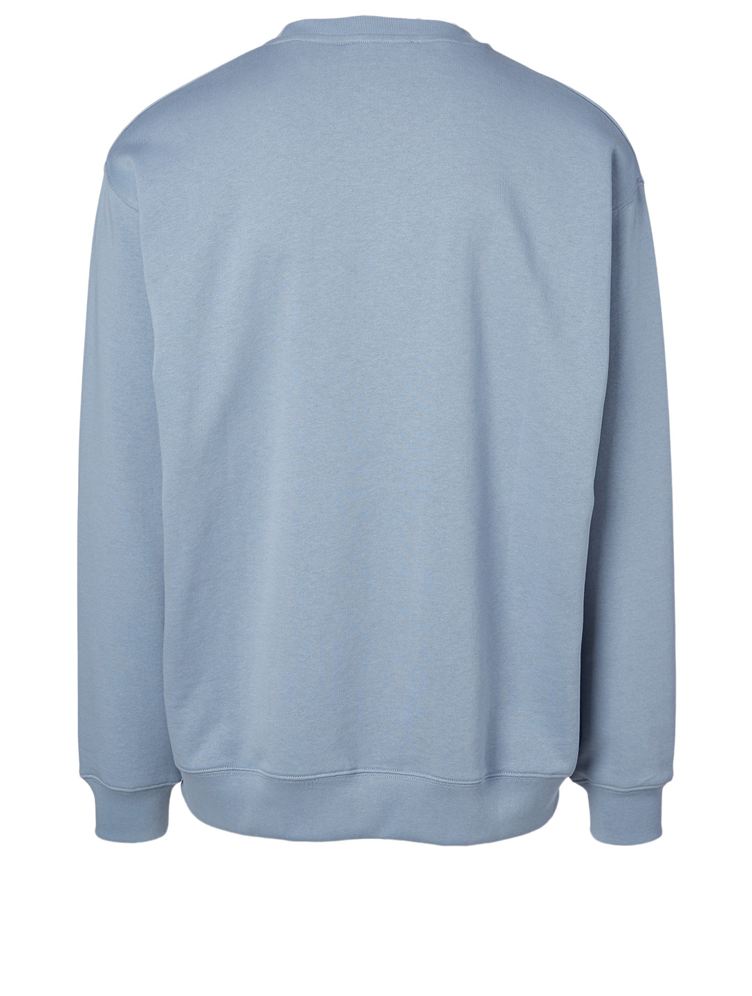 ACNE STUDIOS Cotton Sweatshirt With Logo Patch Men's Blue
