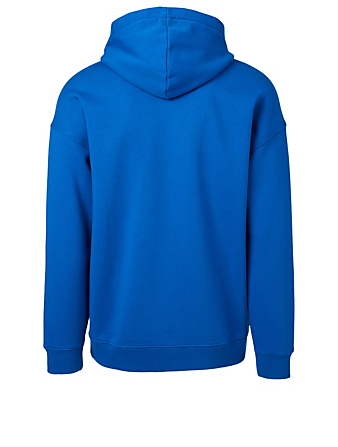 GIVENCHY Cotton Hoodie With Label Logo Men's Blue