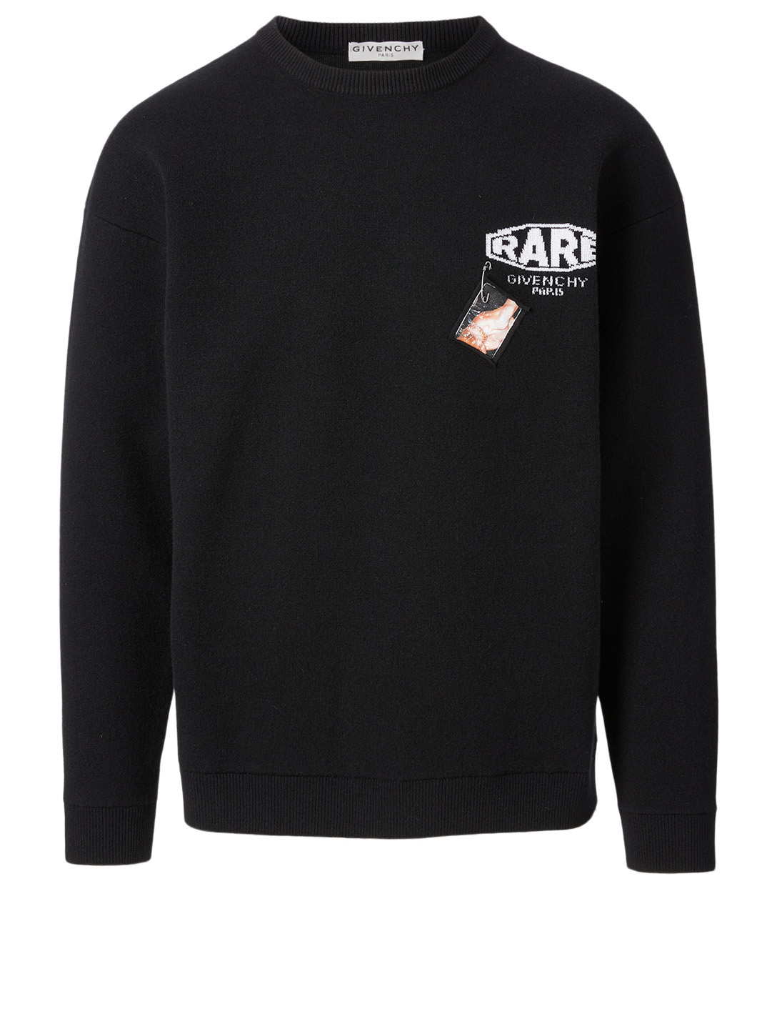GIVENCHY Wool Logo Sweater With Patch Men's Black