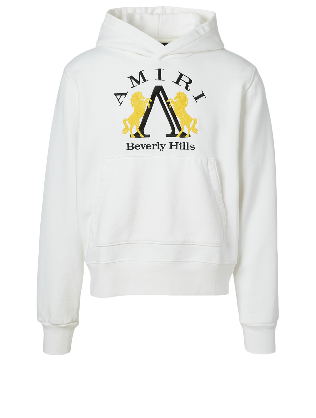 AMIRI Beverly Hills Cotton Hoodie With Logo Men's White