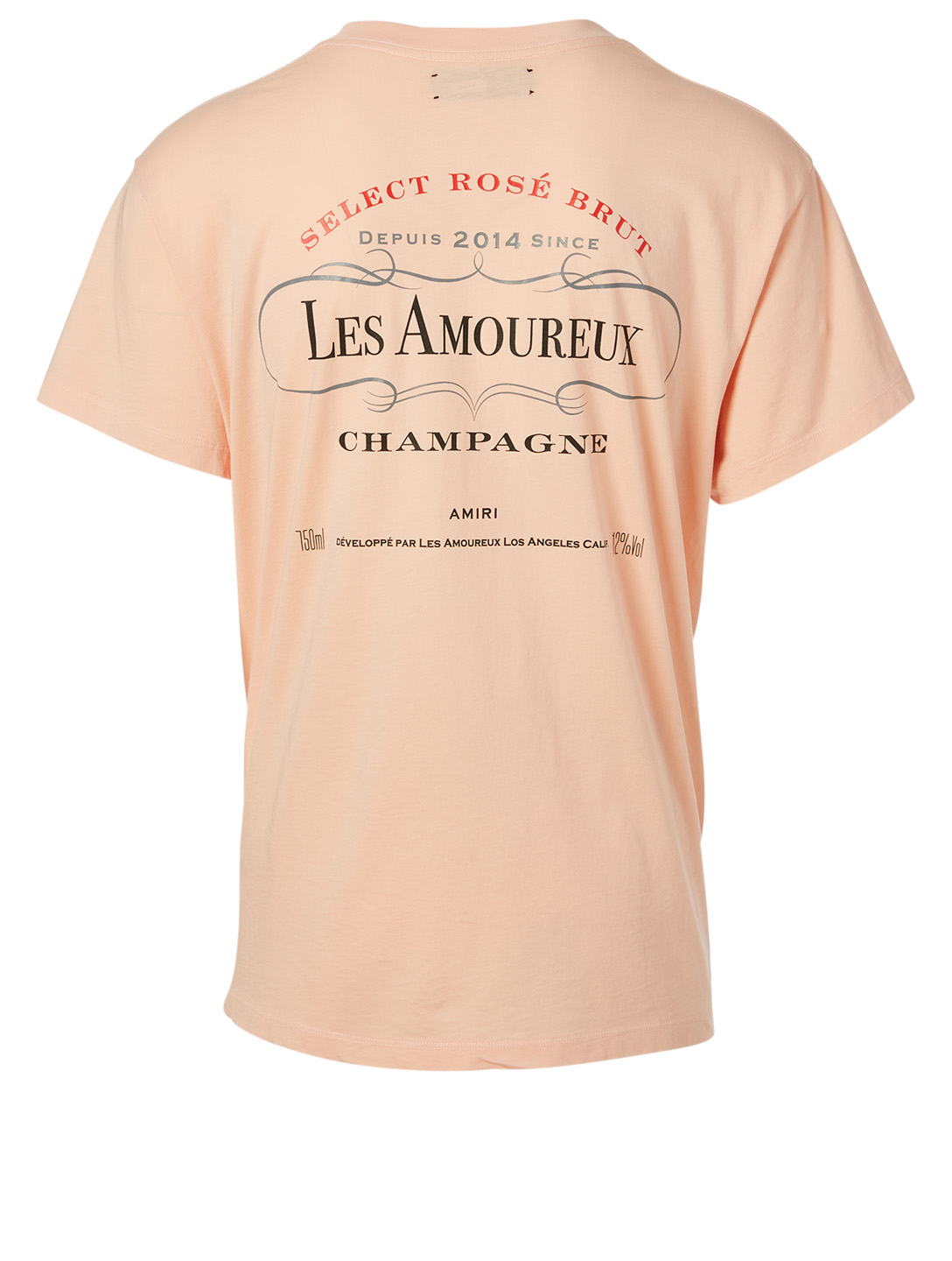 AMIRI Les Amoureux Label Cotton T-Shirt Men's Pink