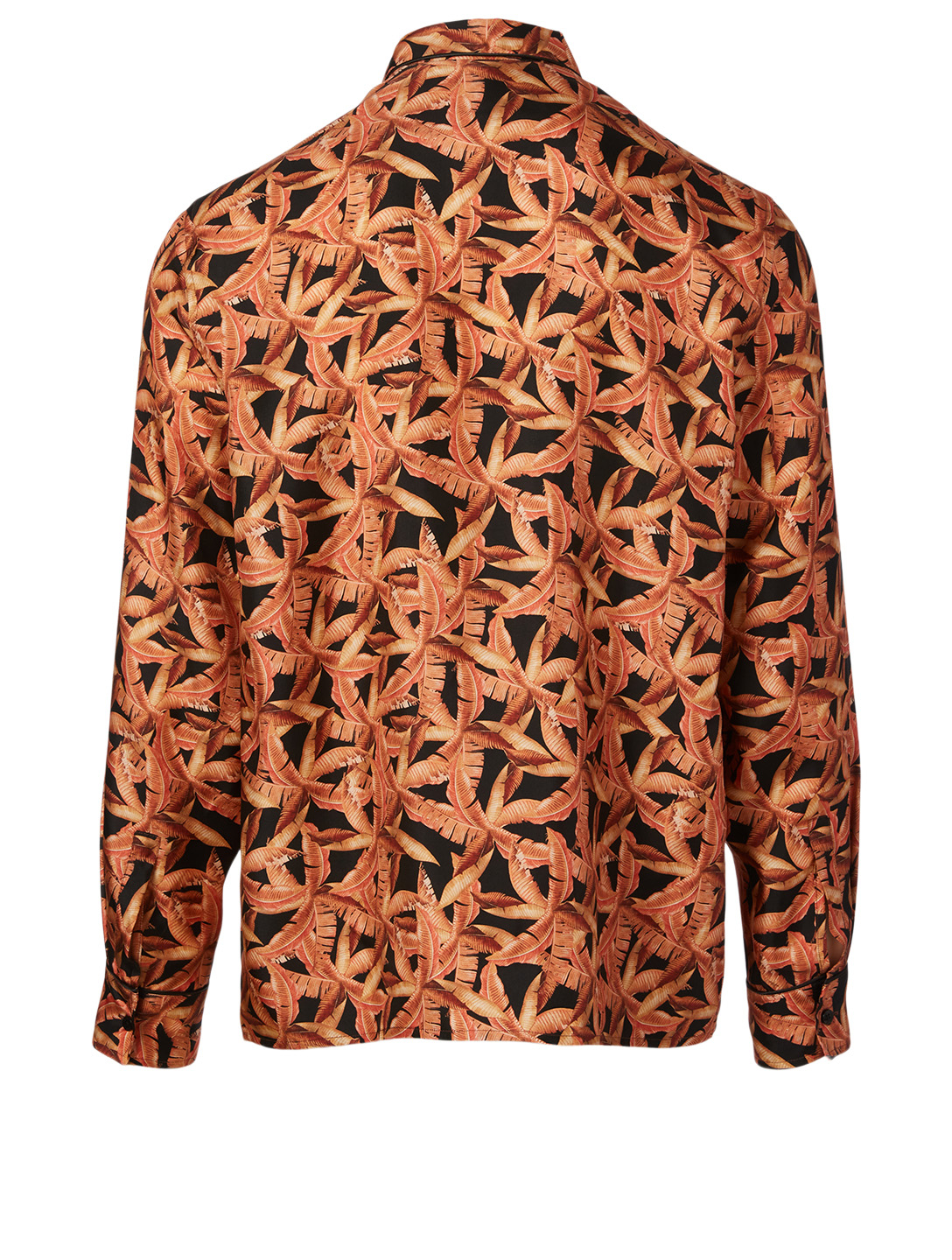 AMIRI Silk Pajama Shirt In Banana Leaves Print Men's Multi