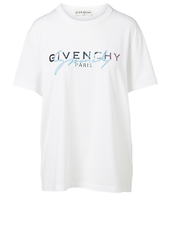 GIVENCHY Cotton T-Shirt With Logo Embroidery Women's White
