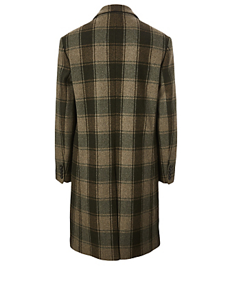 DRIES VAN NOTEN Restler Wool Long Coat Men's Beige