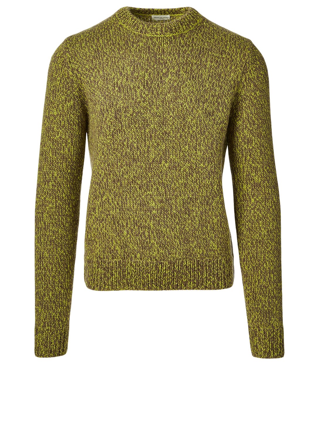 DRIES VAN NOTEN Mijou Wool Crewneck Sweater Men's Green