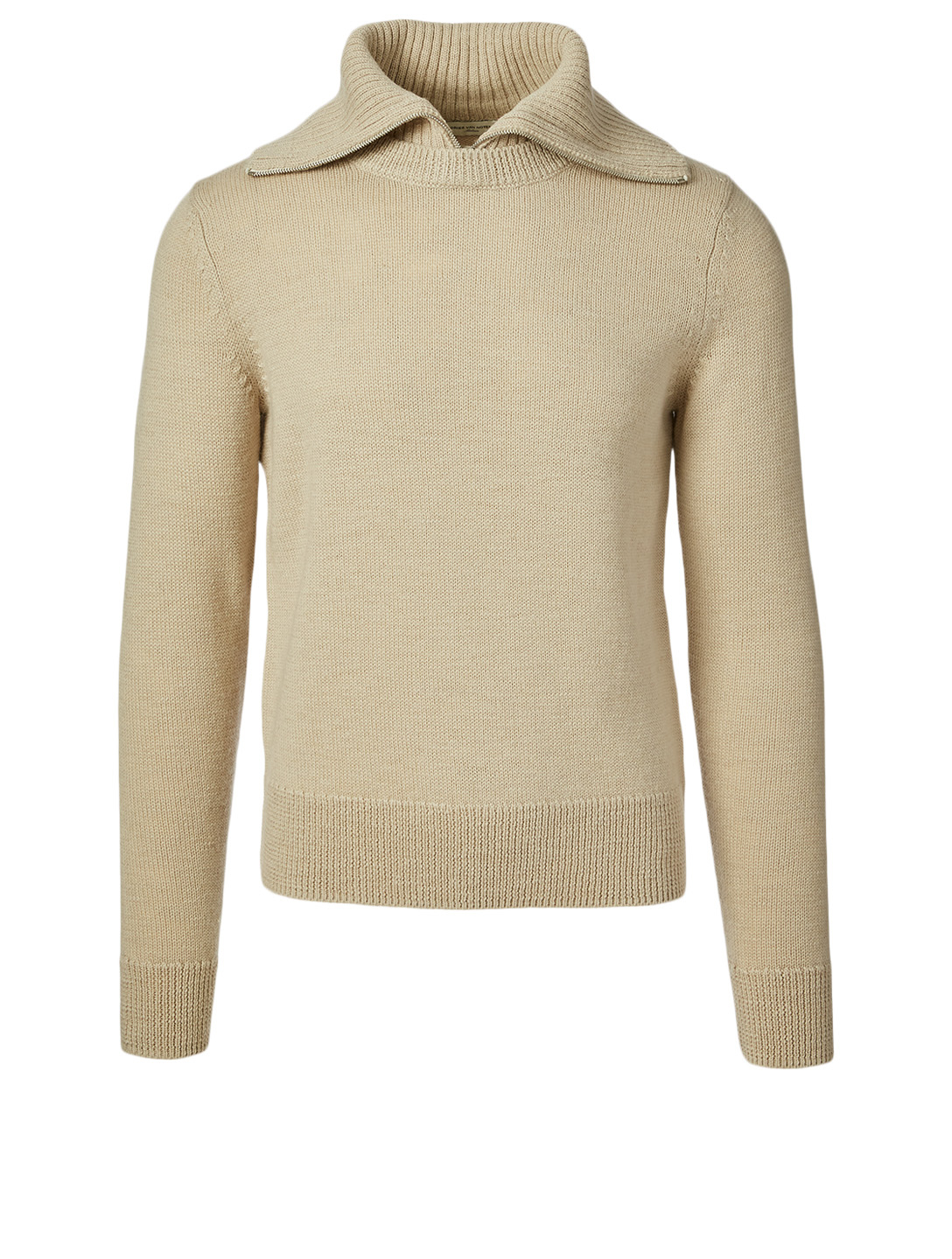 DRIES VAN NOTEN Milano Wool Knit Sweater Men's Beige
