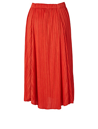 PLEATS PLEASE ISSEY MIYAKE Giocoso Midi Skirt Women's Red