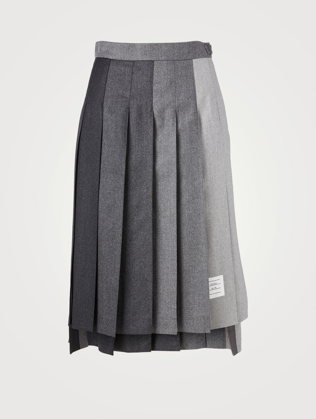 THOM BROWNE Wool Pleated Midi Skirt In Funmix Print Women's Grey