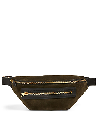 TOM FORD Buckley Suede Belt Bag Men's Green