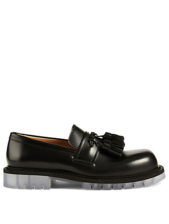 BOTTEGA VENETA Leather Loafers Men's Black