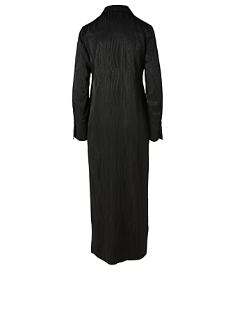 BIRGITTE HERSKIND Calypso Long Shirt Dress Women's Black