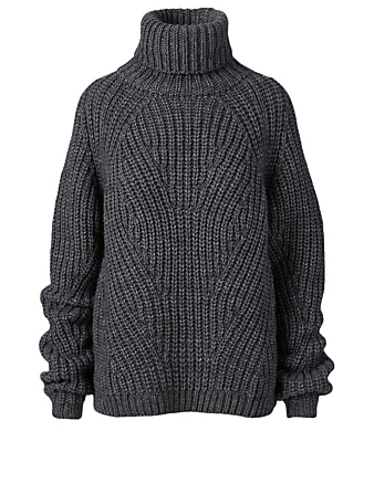 BIRGITTE HERSKIND Henny Wool-Blend Turtleneck Sweater Women's Grey
