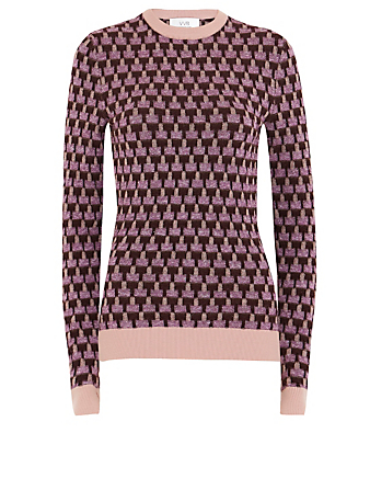 VICTORIA VICTORIA BECKHAM Wool And Linen Crewneck Sweater Women's Purple