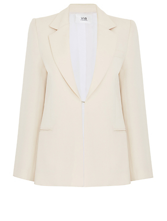 VICTORIA VICTORIA BECKHAM Pagoda Shoulder Tailored Blazer Women's White