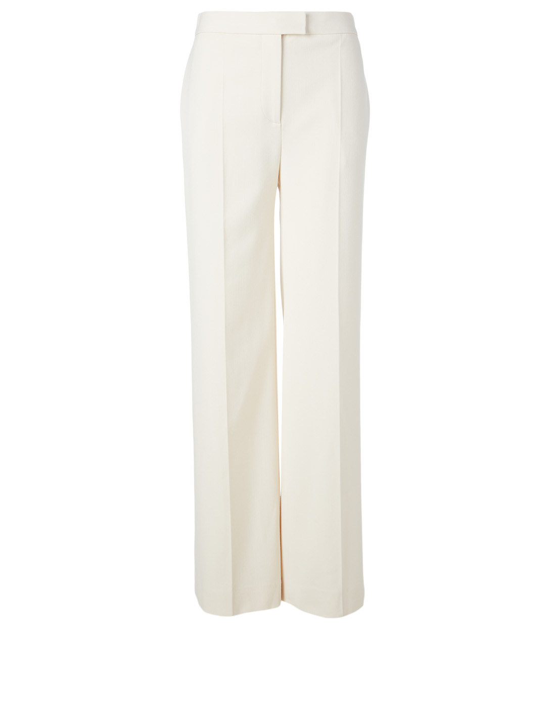 VICTORIA VICTORIA BECKHAM High-Waisted Straight-Leg Pants Women's White