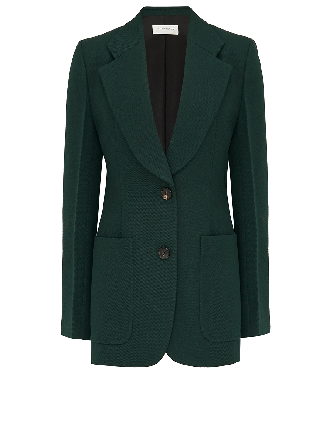 VICTORIA BECKHAM Wool Patch Pocket Blazer Women's Green