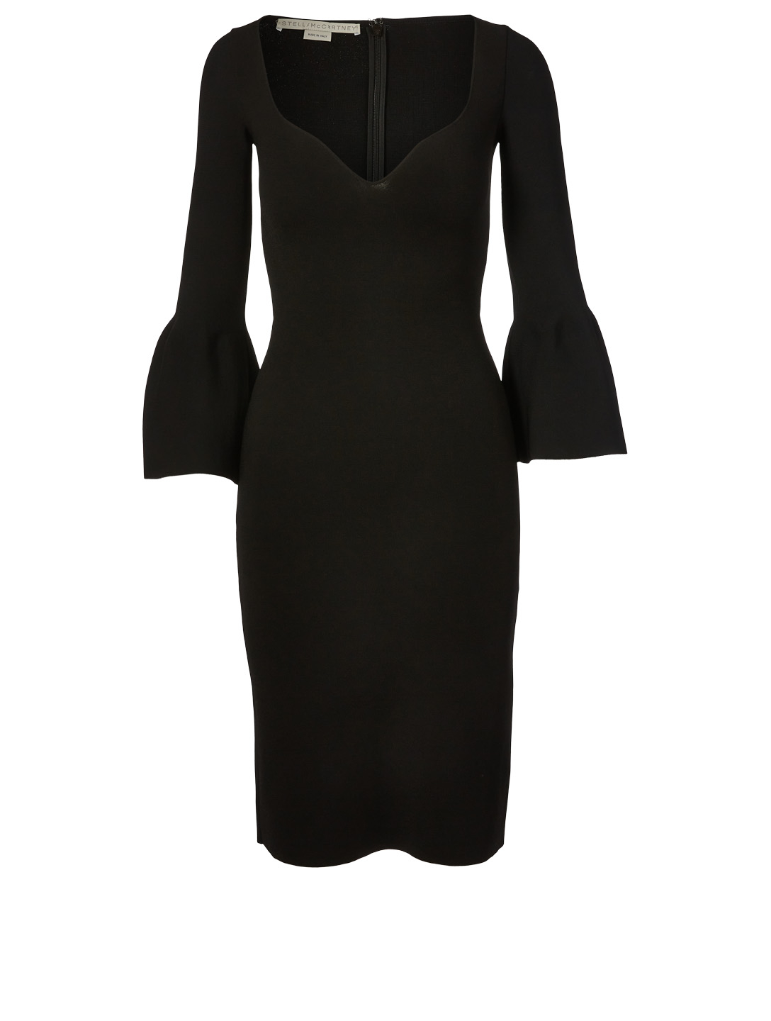STELLA MCCARTNEY Compact Knit Midi Dress Women's Black