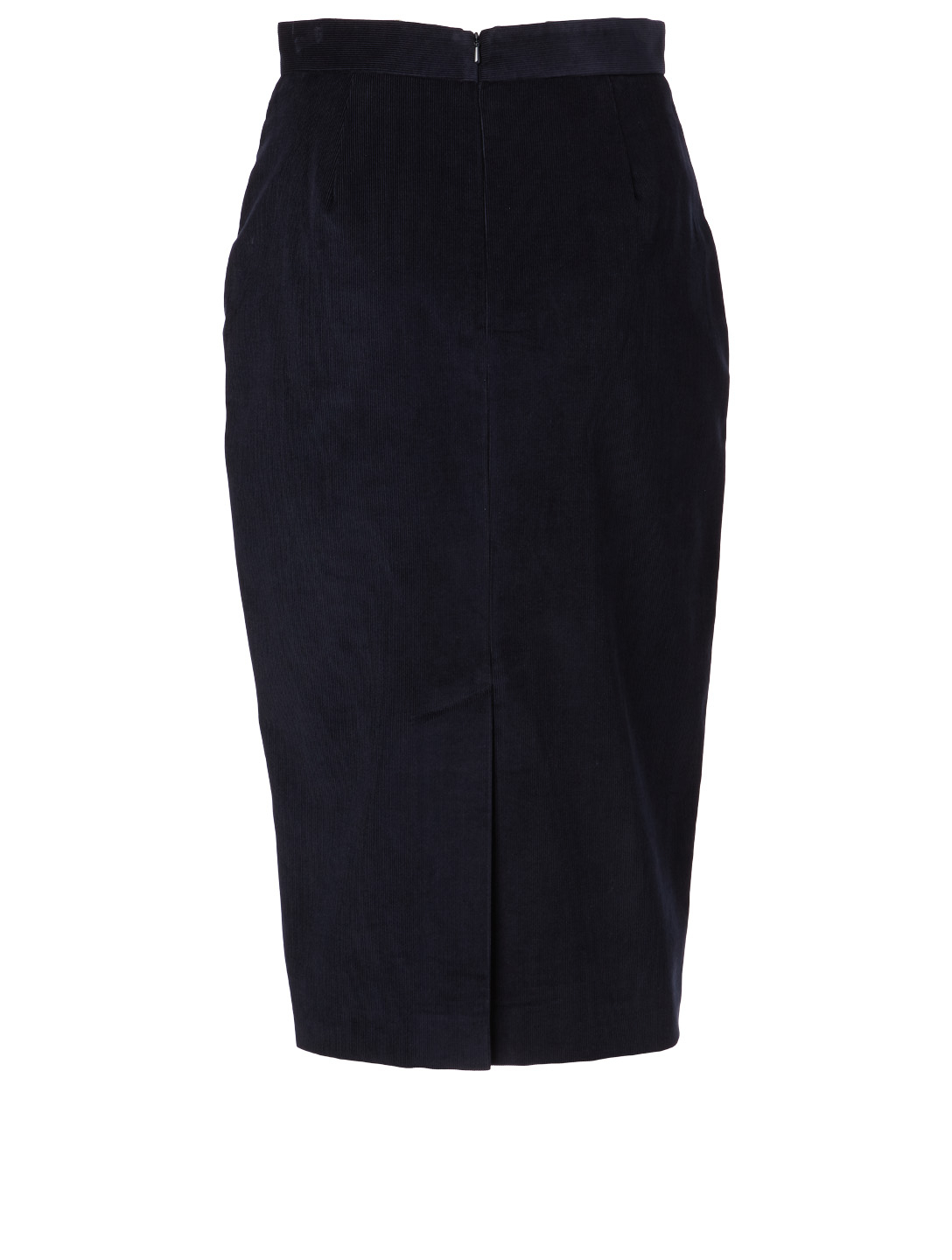 MAX MARA Cotton Velvet Pencil Skirt Women's Blue