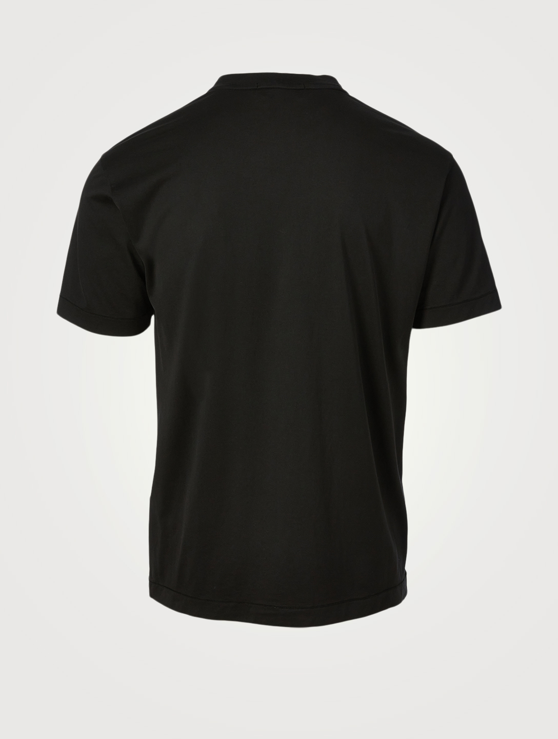 STONE ISLAND Cotton Short-Sleeve T-Shirt Men's Black