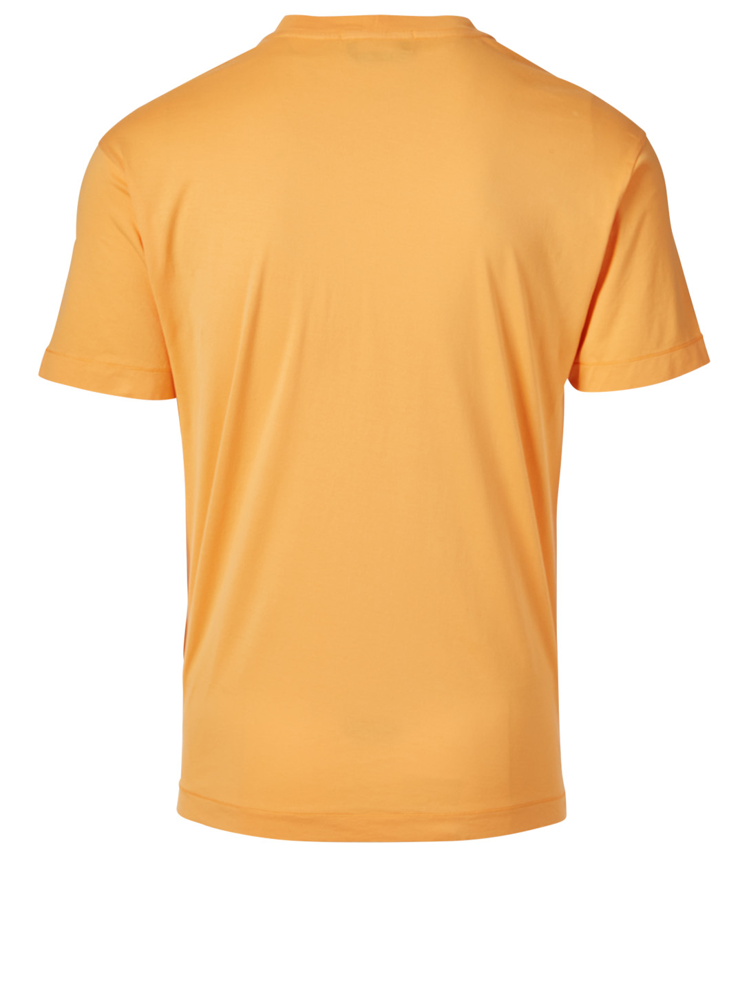 STONE ISLAND Cotton Short-Sleeve T-Shirt Men's Orange