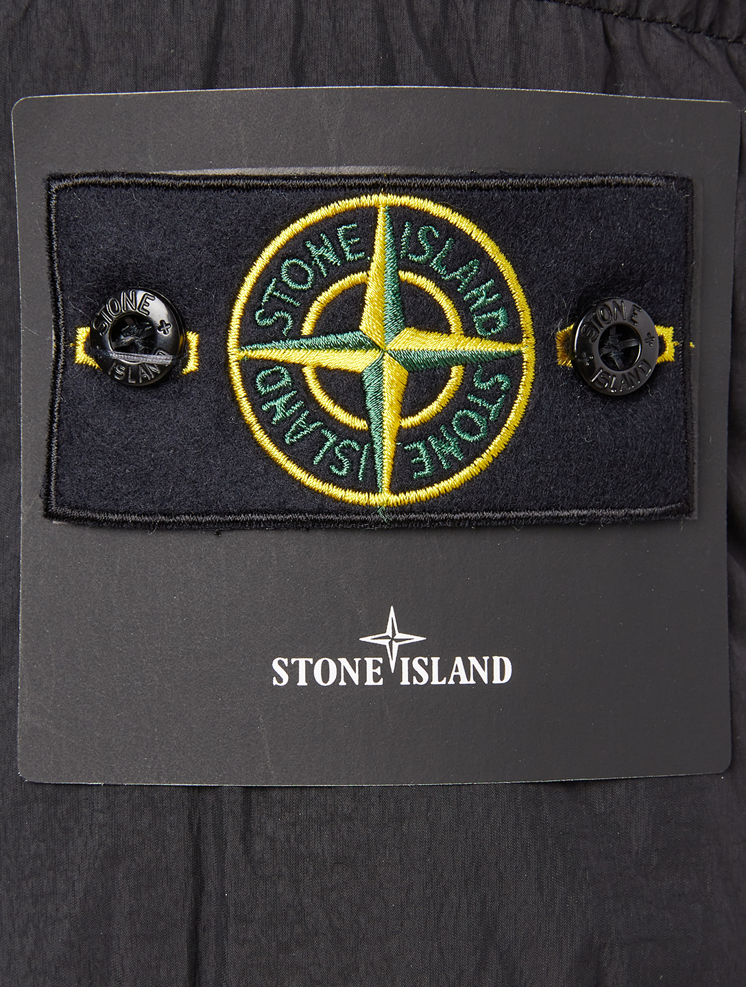 STONE ISLAND Garment Dyed Crinkle Down Jacket Men's Black