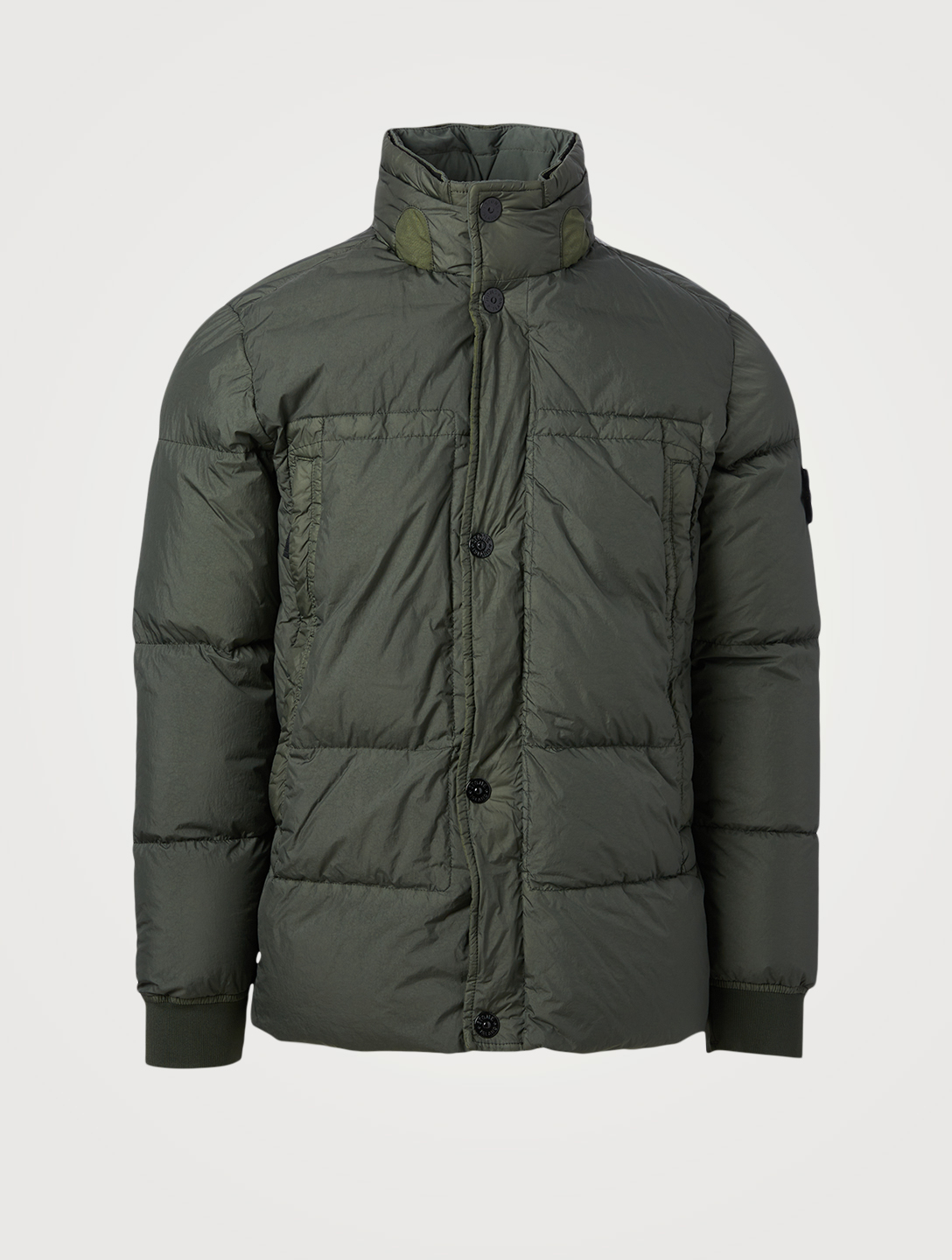 STONE ISLAND Garment Dyed Crinkle Down Jacket Men's Green