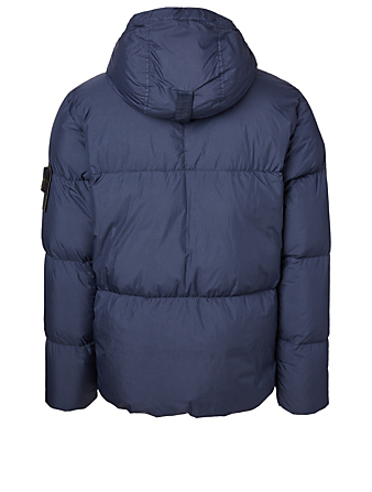 STONE ISLAND Garment Dyed Crinkle Down Jacket Men's Blue