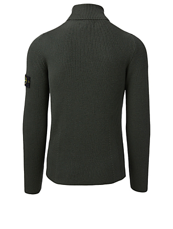 STONE ISLAND Wool Turtleneck Sweater Men's Green