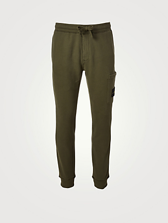 STONE ISLAND Cotton Fleece Pants Men's Green
