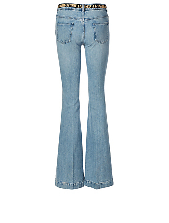 STELLA MCCARTNEY Flared Jeans With Logo Belt Women's Blue