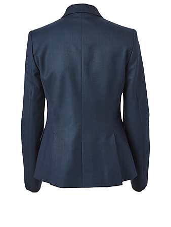 STELLA MCCARTNEY Wool Double-Breasted Blazer Women's Blue