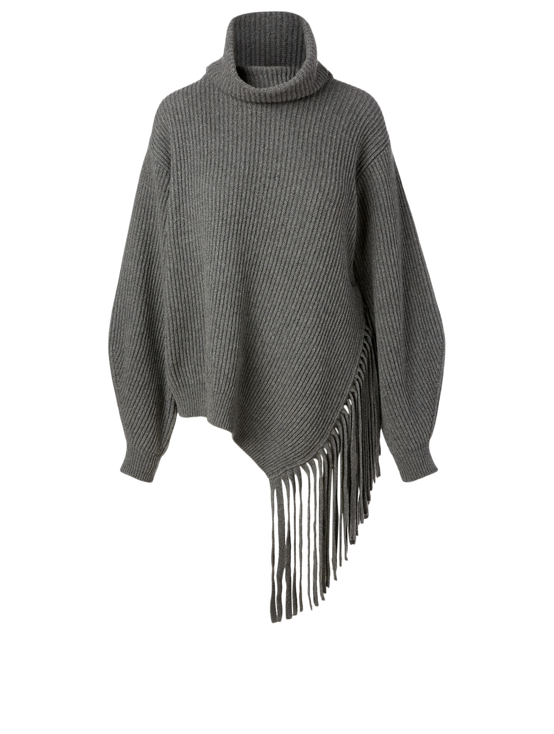 STELLA MCCARTNEY Cashmere Turtleneck Sweater With Fringe Women's Grey