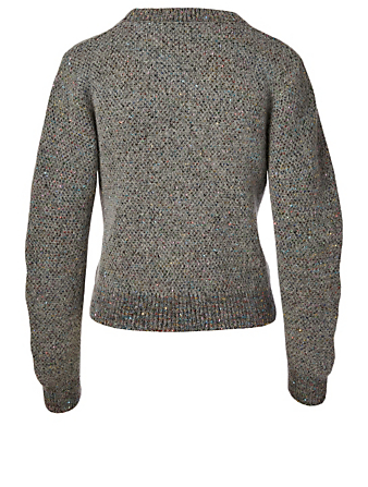STELLA MCCARTNEY Alpaca Wool-Blend Sweater With Sequins Women's Grey