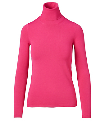 STELLA MCCARTNEY Compact Knit Turtleneck Top Women's Pink