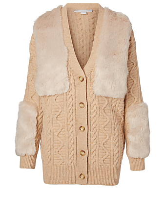 STELLA MCCARTNEY Wool Knit Cardigan Women's Beige
