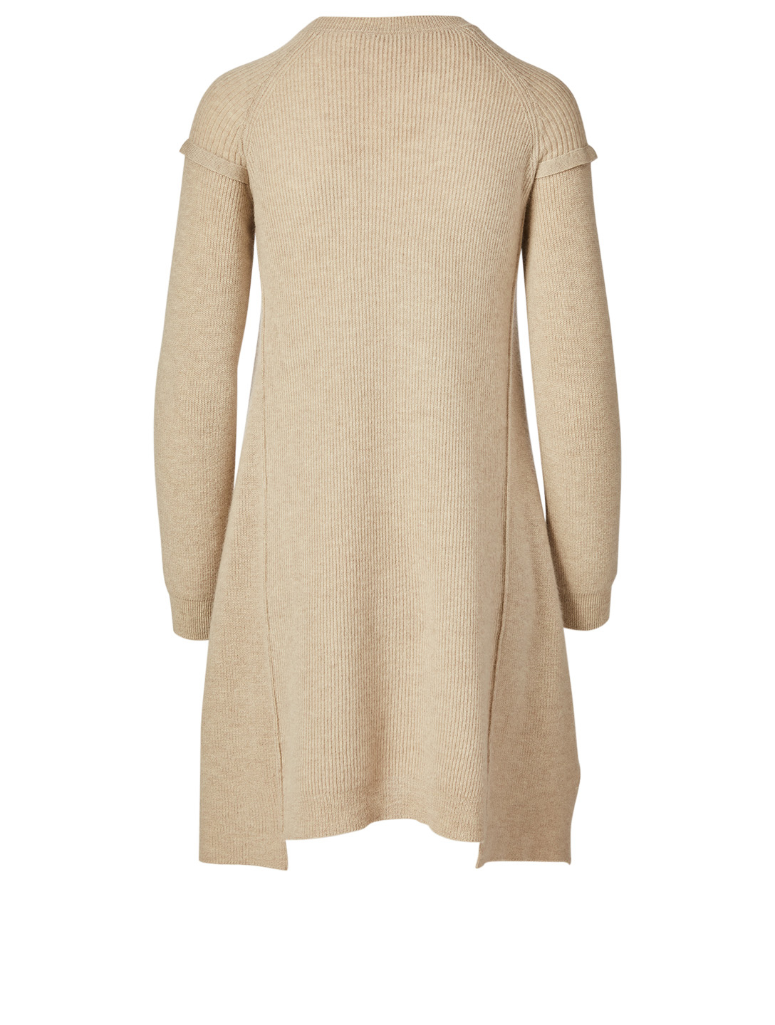 STELLA MCCARTNEY Wool And Alpaca Deconstructed Dress Women's Beige