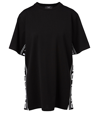 STELLA MCCARTNEY Cotton T-Shirt With Logo Tape Women's Black